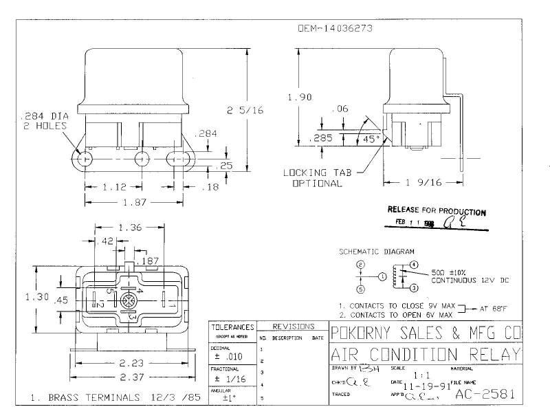 spdt relay wiring diagram fan 14036273 gm a/c relay spdt