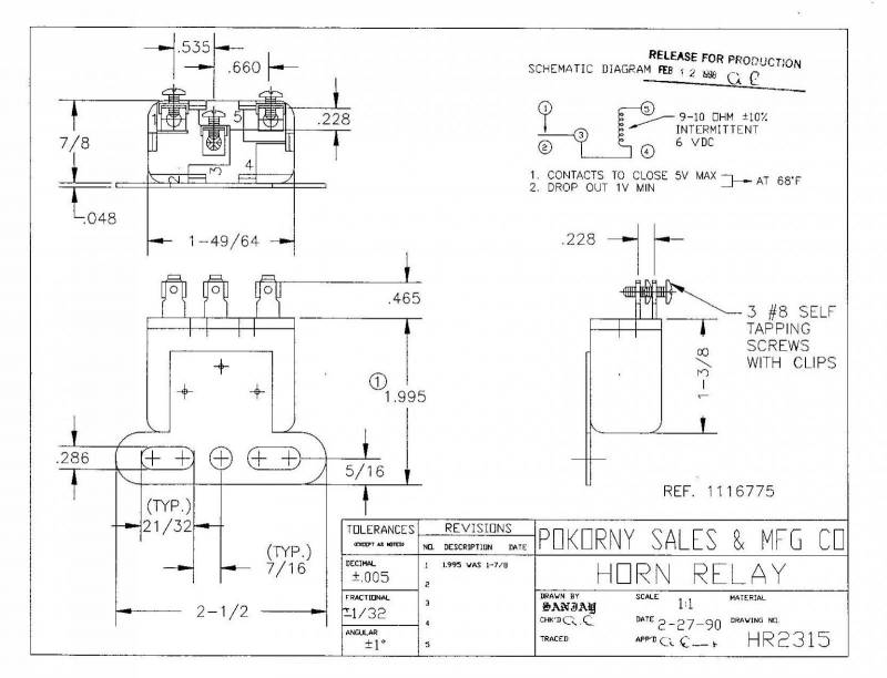6 volt horn relay wiring diagram 32 wiring diagram 6v relay diagram 30 amp relay diagram horn