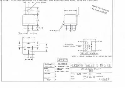 Pokorny - 12 Volt ISO SPDT Bracket Resistor
