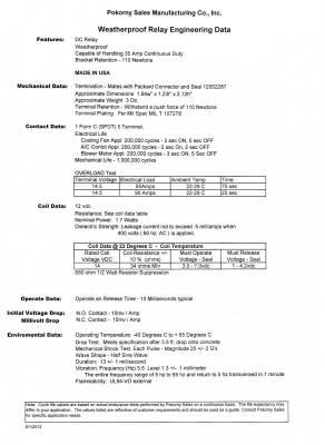 Pokorny - 12 Volt Weatherproof Skirted SPDT No Bracket Resistor Relay