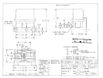 Pokorny - 14036273 GM A/C Relay SPDT