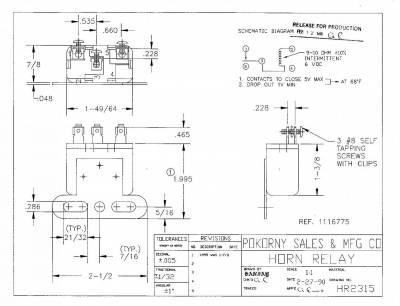 Pokorny - 2315 Horn Relay SPST 6 Volt Can