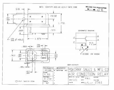 Pokorny - 4221615 Chrysler A/C Relay Dual Out