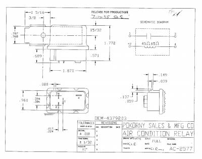 Pokorny - 4379203 Chry A/C Can Relay SPST